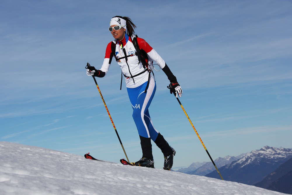 Lorna Bonne en ski de randonnée © Cliclac photos